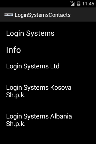 Login Systems Info
