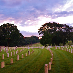Marietta National Military Cemetery by Lisa Montcalm - City,  Street & Park  Cemeteries ( , golden hour, sunset, sunrise )
