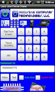 Land Line Phone Dialer - screenshot thumbnail