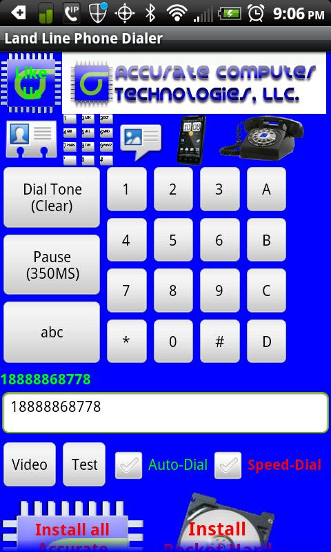 Land Line Phone Dialer - screenshot