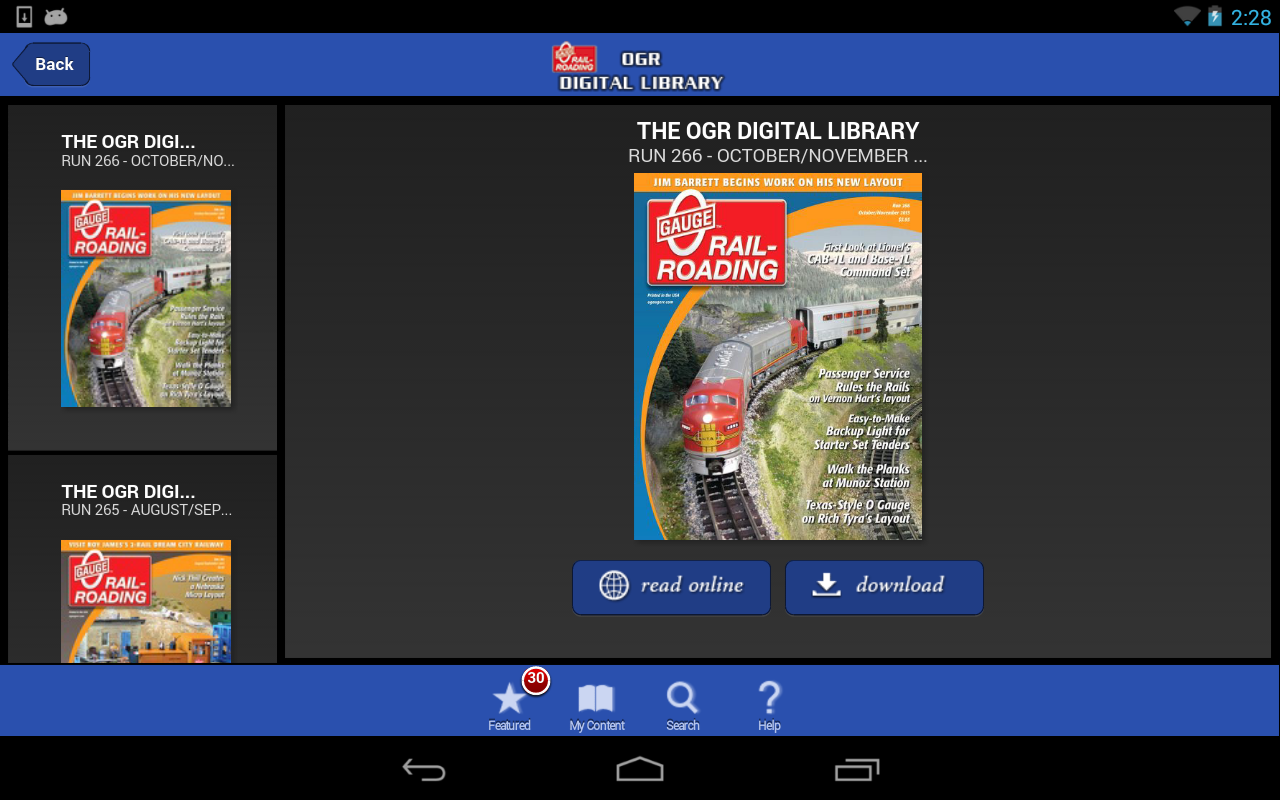OGR Digital Library - screenshot
