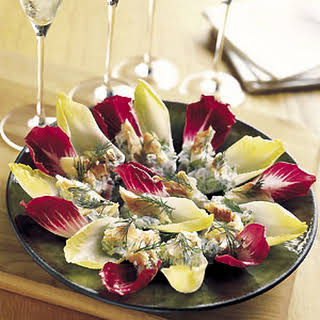 Endive with Smoked Trout and Herbed Cream Cheese.