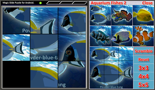 Magic Slide Puzzle A Fishes 2