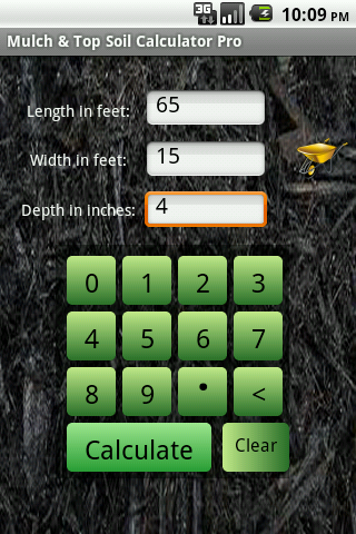 Mulch calculator pro android apps on google play for Soil removal calculator