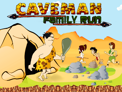 Brave Caveman - Angry Dinosaur