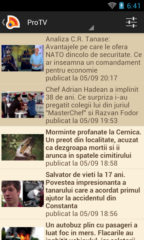 Stiri din Romania - screenshot