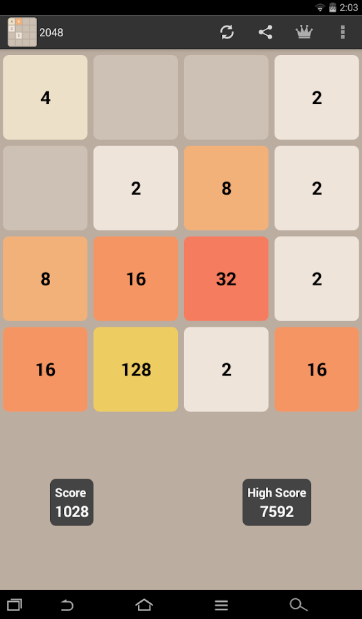Screenshots of 2048 for iPhone