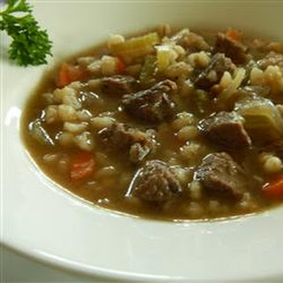 Hearty Beef Soup.