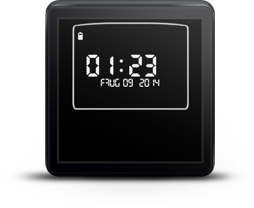 KnightRider Watchface for Wear - screenshot