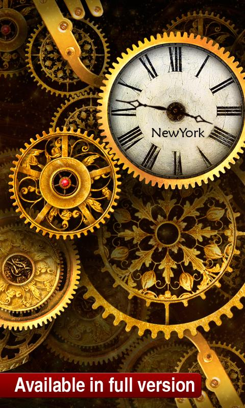FREE Gold Clock Live Wallpaper - screenshot
