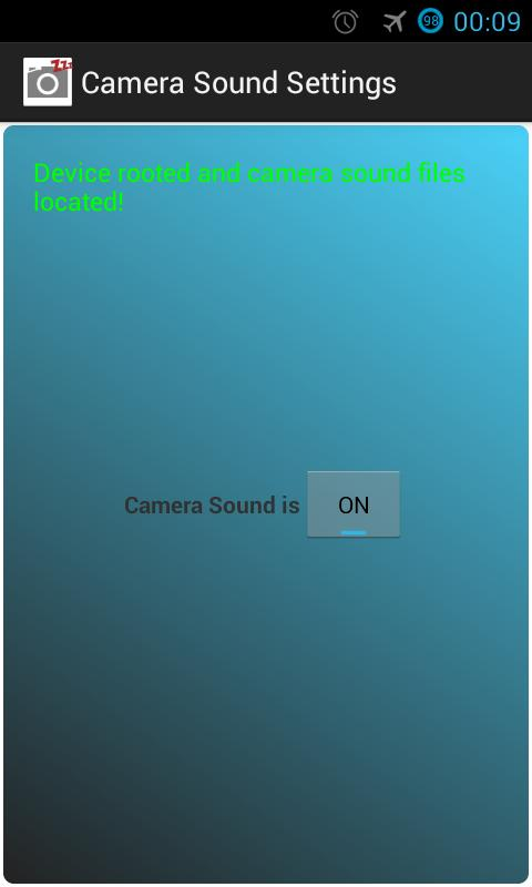 Camera Sound off! (root) - screenshot
