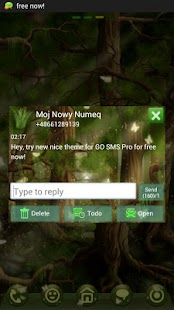 GO SMS Pro Theme forest - screenshot thumbnail