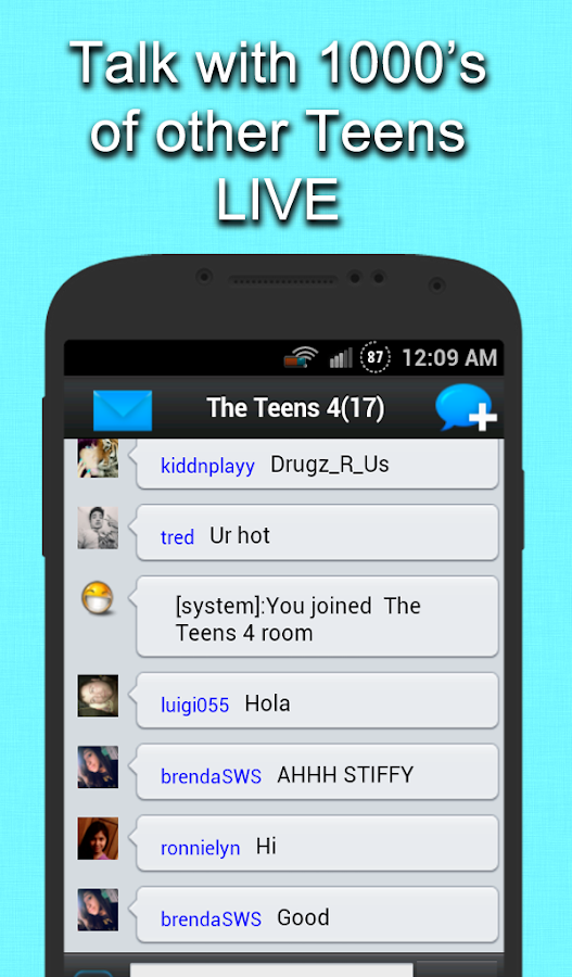 Teenage dating chat room