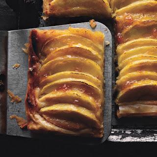 Crispy Braeburn Apple and Almond Sheet Tart.