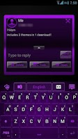 Screenshot of GO SMS Purple Platinum Theme
