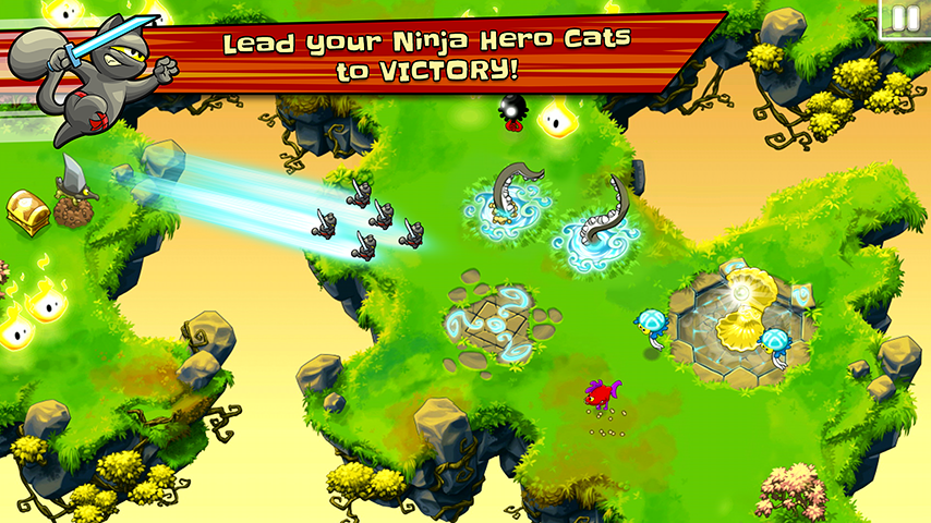 Ninja Hero Cats - screenshot