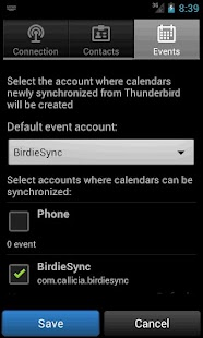 BirdieSync for Thunderbird - screenshot thumbnail