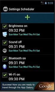 Settings Scheduler - screenshot thumbnail