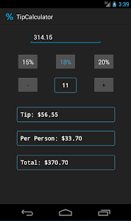 Simple Tip Calculator - screenshot thumbnail