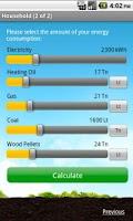 Screenshot of Ausante CO2 calculator