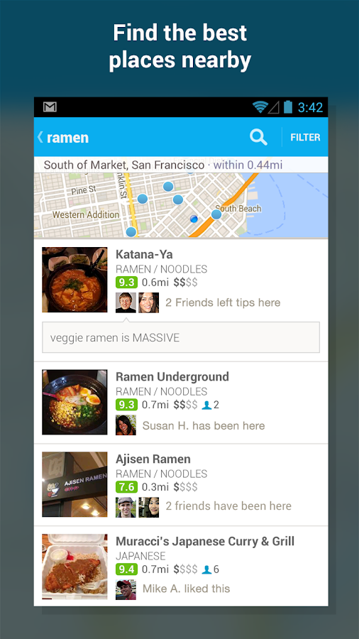 Foursquare - screenshot