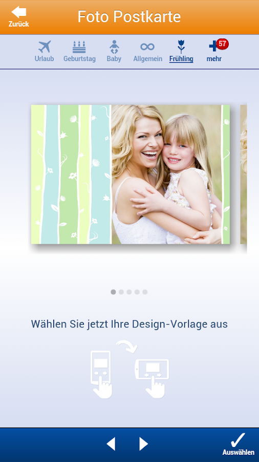 Foto Postkarte- screenshot