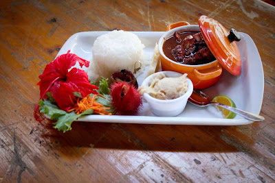 The cozy, urban restaurant La Patio in Martinique offers a wide selection of gourmet and traditional dishes.