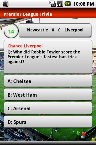 Premier League Trivia 2010- screenshot