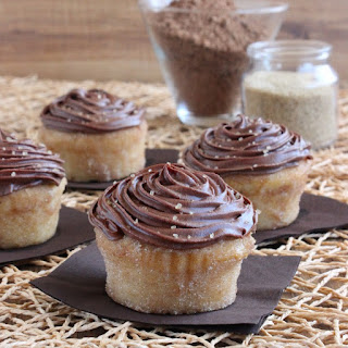 Chocolate Frosted Lemon Cupcakes.