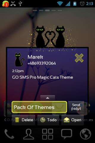 Magic Cats Theme for GO SMS- screenshot