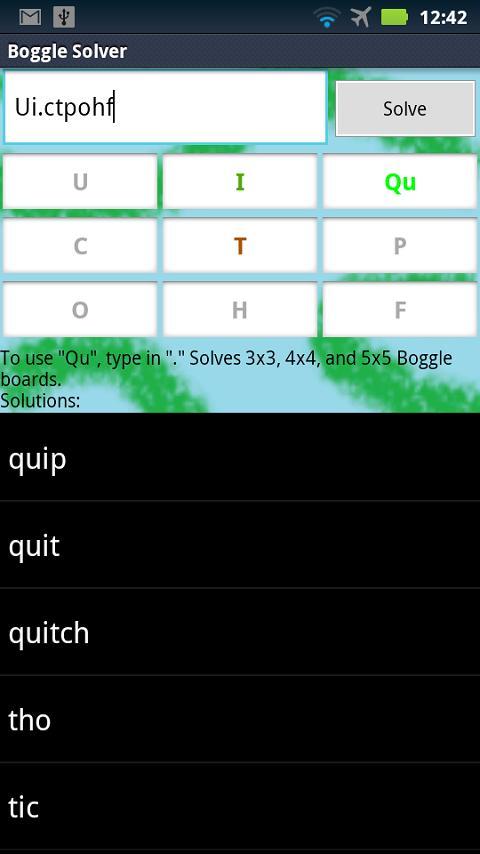 Boggle Solver- screenshot