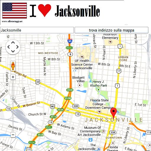Jacksonville maps
