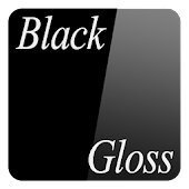 Black Gloss-Launcher icon skin