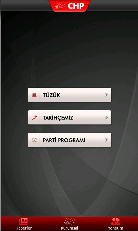 CHP Mobil - screenshot