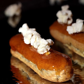 Caramel and Popcorn Eclair