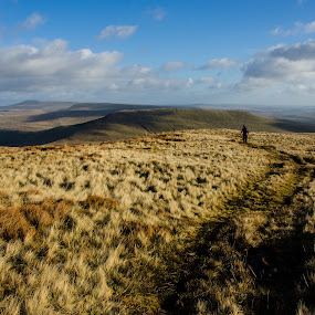A Winter's Walk in the Hills by Mike Hayter - Landscapes Mountains & Hills ( mountains, winter, brecon beacons, wales, walk )