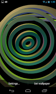 3D Hypnotic Spiral Rings PRO screenshot 3