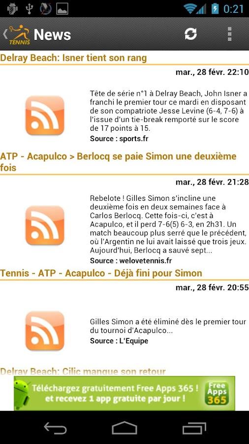 Tennis News - screenshot