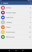 Screenshot of aWallet Cloud Password Manager