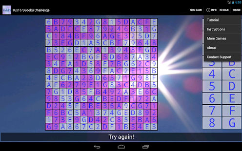 16x16 Sudoku Challenge HD- screenshot thumbnail
