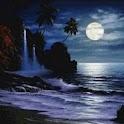 Waves Sea Beach At Night logo