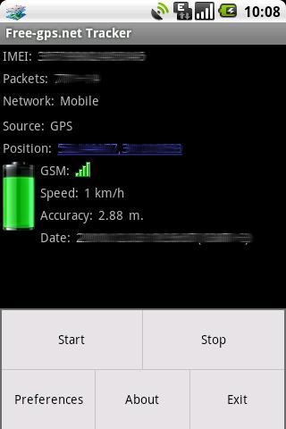 Free-gps.net Tracker - screenshot