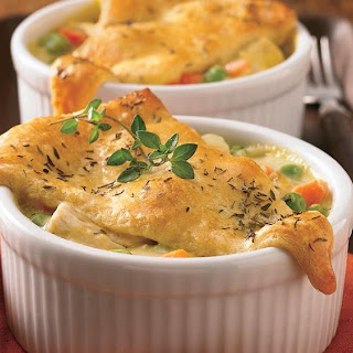 Mini Crescent Chicken Pot Pies.