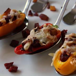 Mini Chorizo Stuffed Peppers.