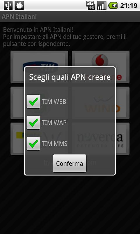 APN Italiani - screenshot