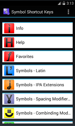 Office Symbol Shortcuts