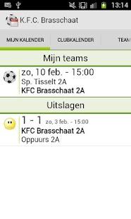 Voetbal kalender