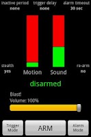 Screenshot of Motion & Sound Alarm