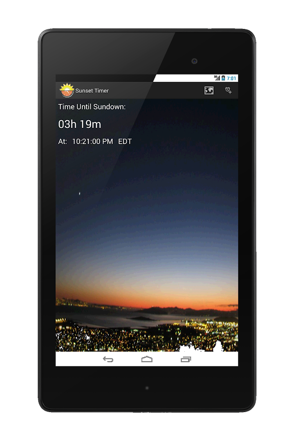 SunSet Alert™- screenshot