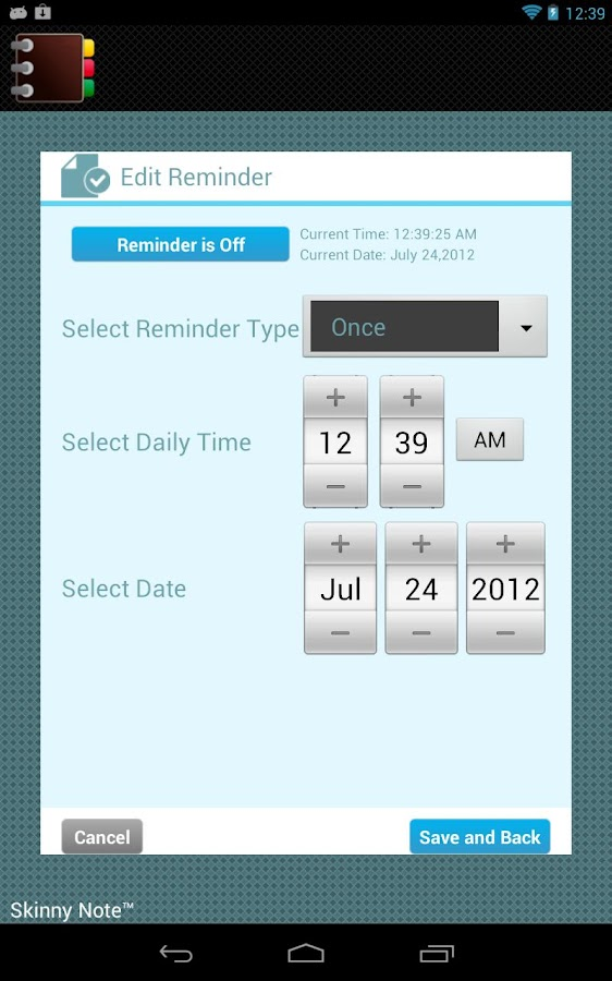 SkinnyNote Notepad Lite - screenshot